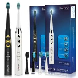 2 Pack Fairywill Sonic Electric Toothbrush Couples 3 Modes R