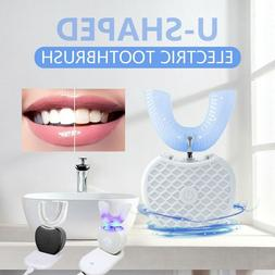 360° Wireless Automatic Electric Sonic Toothbrush Tooth Whi