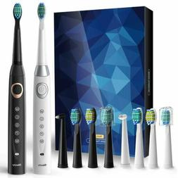 Dual Handle Electric Toothbrush With Timer 8 Replacement Hea
