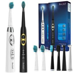 dual sonic electric toothbrush rechargeable smart timer