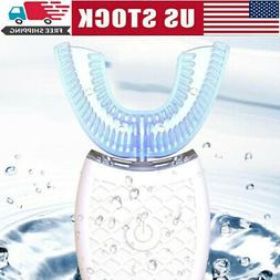 Oral Care Electric Sonic Toothbrush IPX7 U-shaped 360° Whit