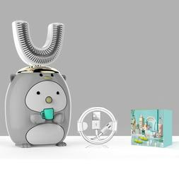 Gray Toddler's Children's Electric Toothbrush 360°Automatic