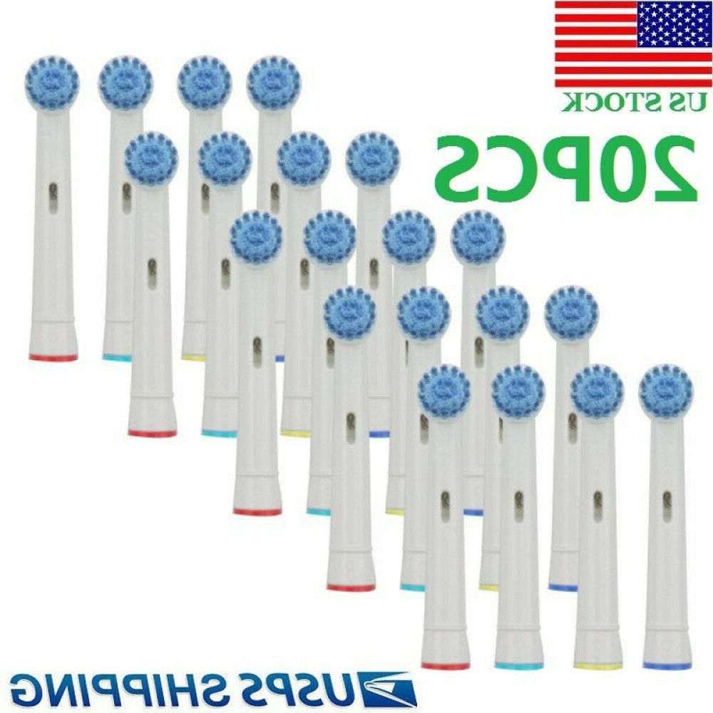 20pcs sonic electric toothbrush replacement brush heads