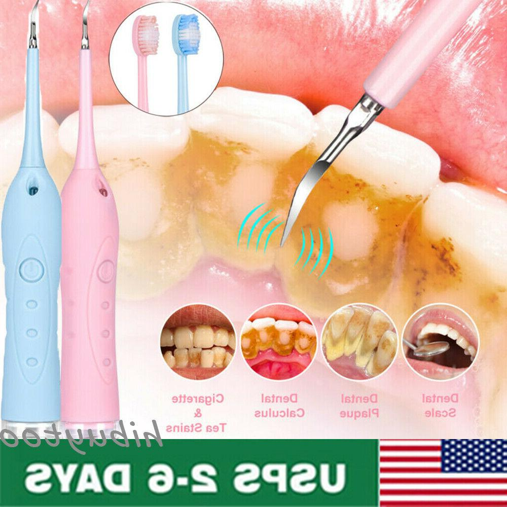 electric sonic dental scaler tooth whiten stains