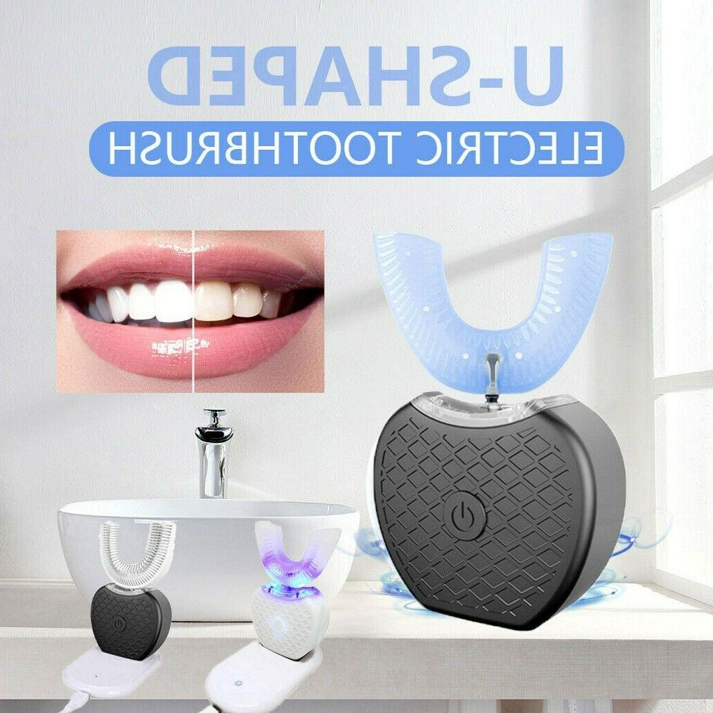 Automatic 360°Electric Sonic Teeth Brush Care Cleaner Whitening