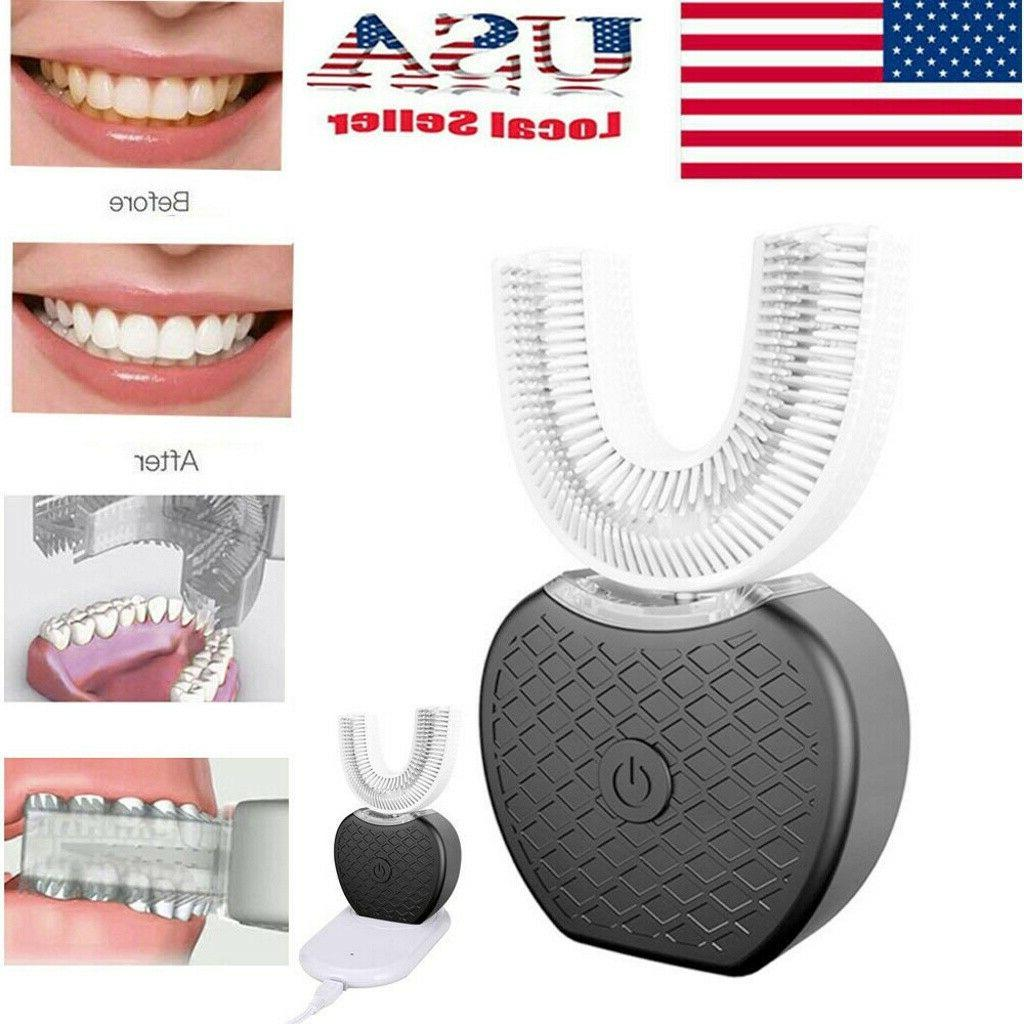 Automatic 360°Electric Sonic Toothbrush Teeth Brush Oral Ca