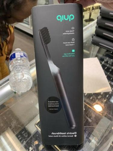 electric toothbrush special edition all black metal