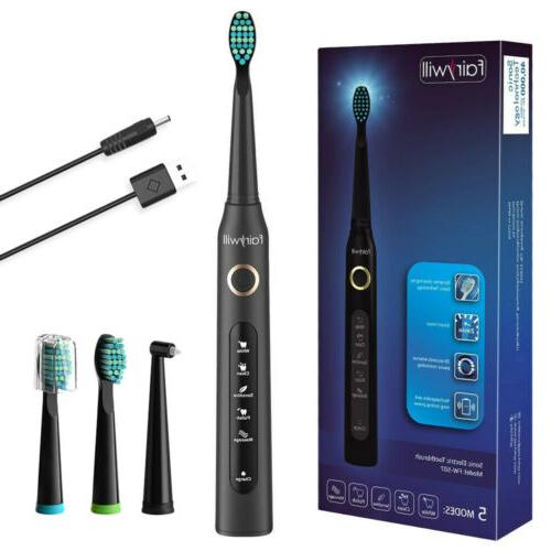 rechargeable electric sonic toothbrush 5 modes 3