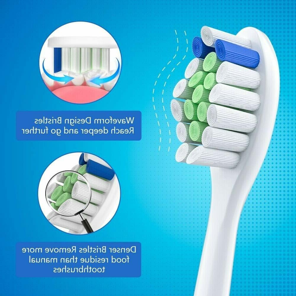 Delamu 12pcs Sonic Heads For Toothbrush
