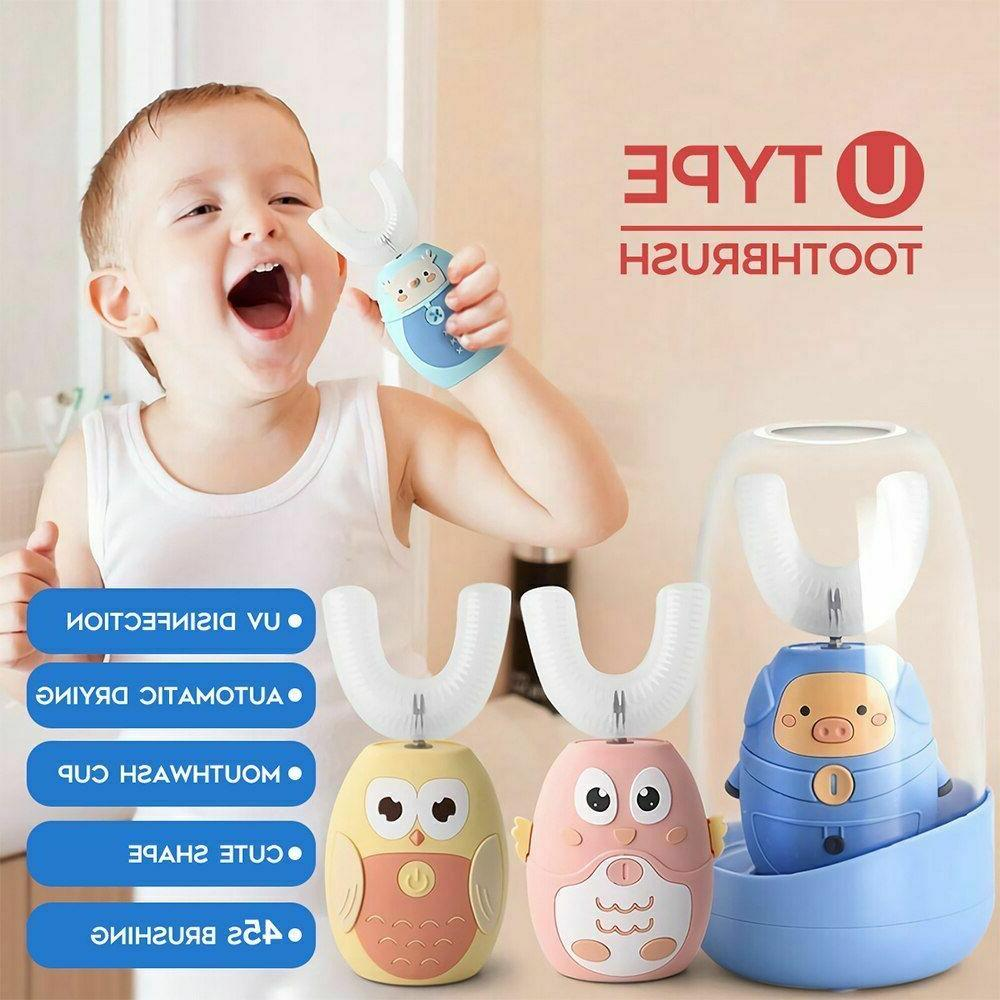 Sonic Toothbrush Auto Brush Head Kids USB Drying