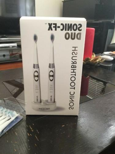sonic fx duo electric toothbrush white new
