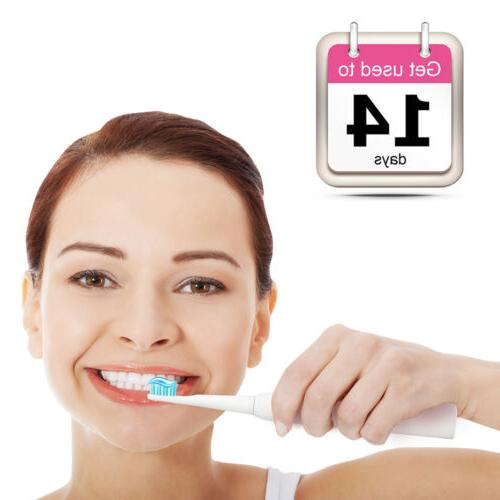 Fairywill Toothbrush Rechargeable Brush 5 Modes White