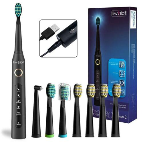 sonic vibration electric toothbrush 5 modes rechargeable