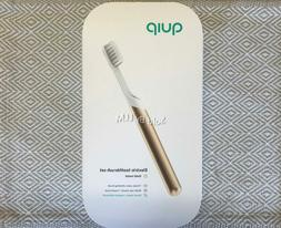NEW & SEALED! QUIP METAL Electric Toothbrush Sonic GOLD Trav
