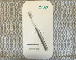 NEW & SEALED! QUIP METAL Electric Toothbrush Sonic SILVER Tr
