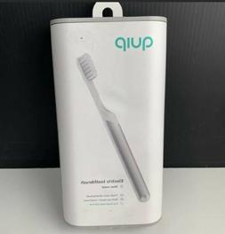 QUIP NEW Electric Toothbrush Sonic Set SILVER Metal Toothpas