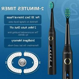 Rechargeable Sonic Toothbrush for Kids and Adults Soft Brist