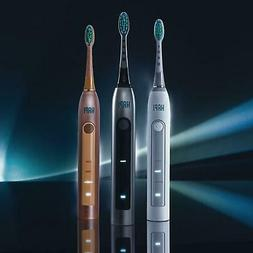 Rose Gold HAPI Sonic Electric Toothbrush + 1 Year Supply Whi