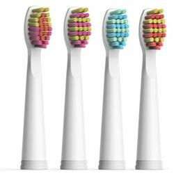 Fairywill Sonic Electric Toothbrush Brush Head x 4 for Model