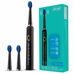 sonic electric toothbrush clean as dentist rechargeable