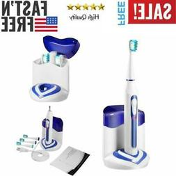 Sonic Electric Toothbrush w/ UV Sanitizer 3 Replacement Head