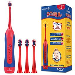 Sonic Rechargeable Kids Electric Toothbrush 3 Modes Featured