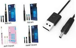 usb cable for sonic electric toothbrush black